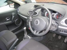 Interior view of driving instructors car